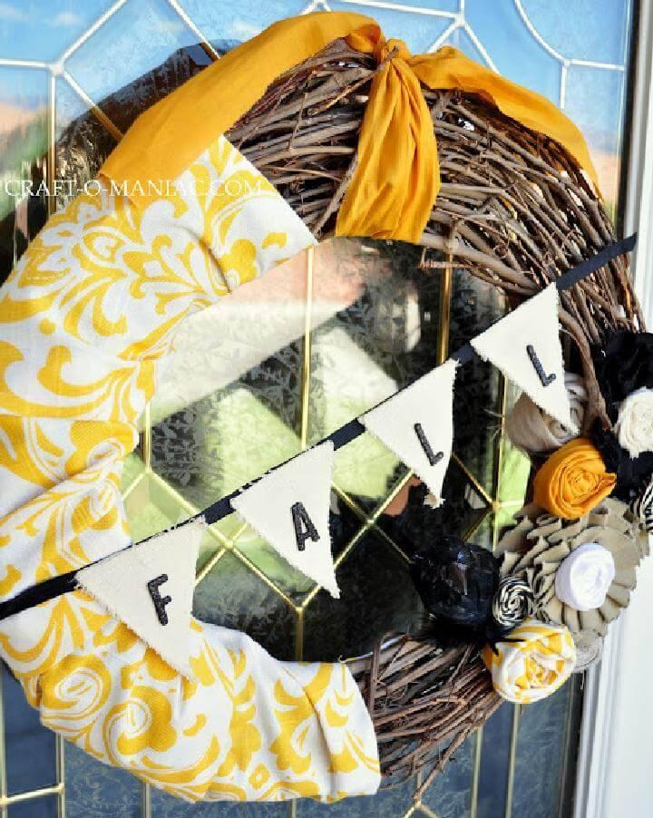 DIY Homemade Fall Wreath