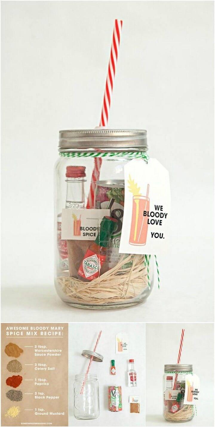 DIY Homemade Mason Jar Bloody Mary Gift and Spice Recipe