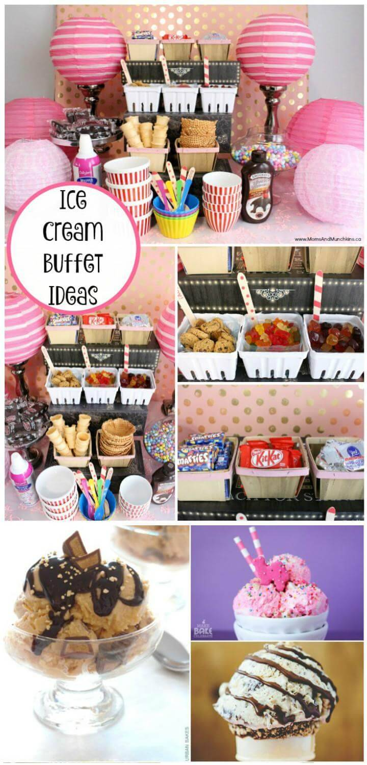DIY Ice Cream Party Buffet Ideas