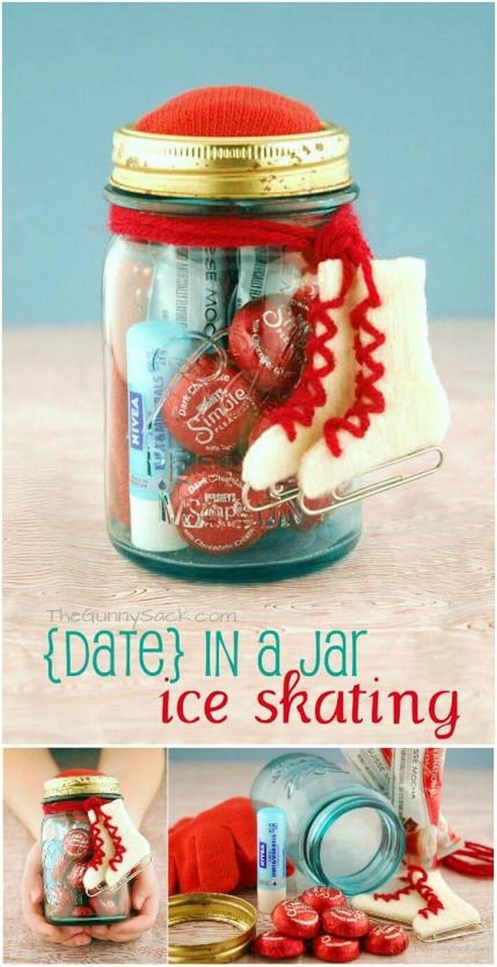 DIY Ice Skating Mason Jar Gift