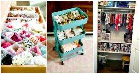 DIY Insanely Genius Ways to Organize Baby Clothes