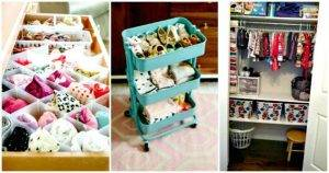 DIY 20 Insanely Genius Ways to Organize Baby Clothes
