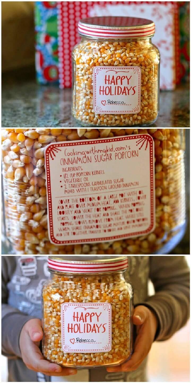 DIY Kernels Popcorn Mason Jar Gift