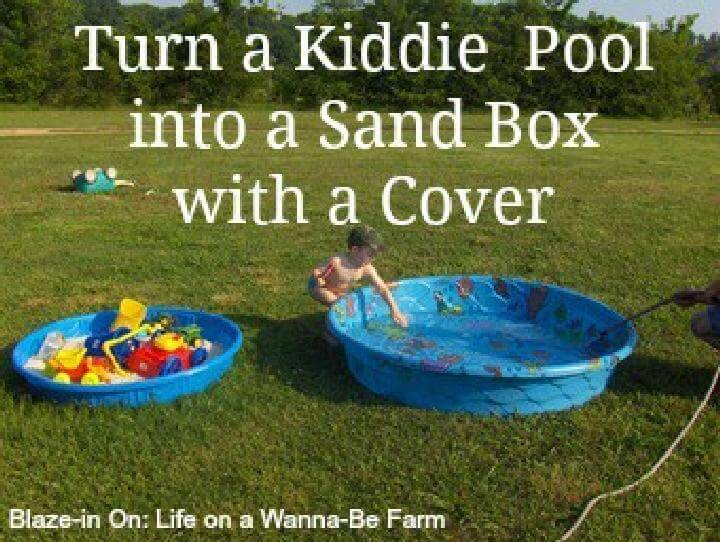 DIY Kiddie Pool Into Sandbox