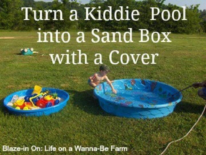 DIY Kiddie Pool Into Sandbox