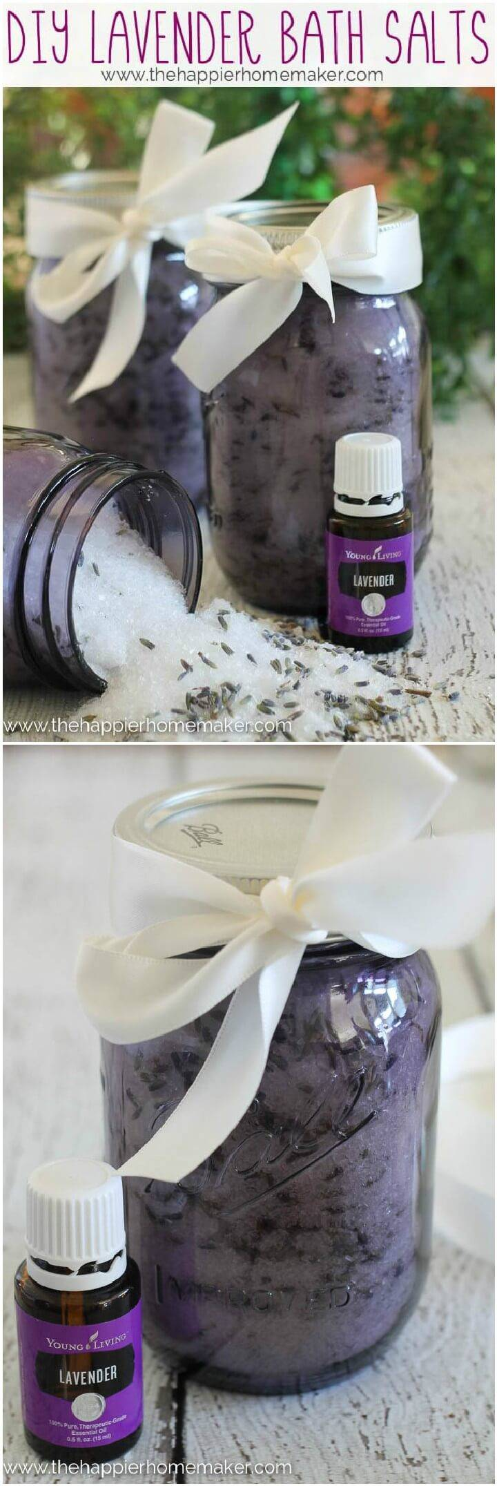 DIY Lavendar Bath Slats Mason Jar Gifts