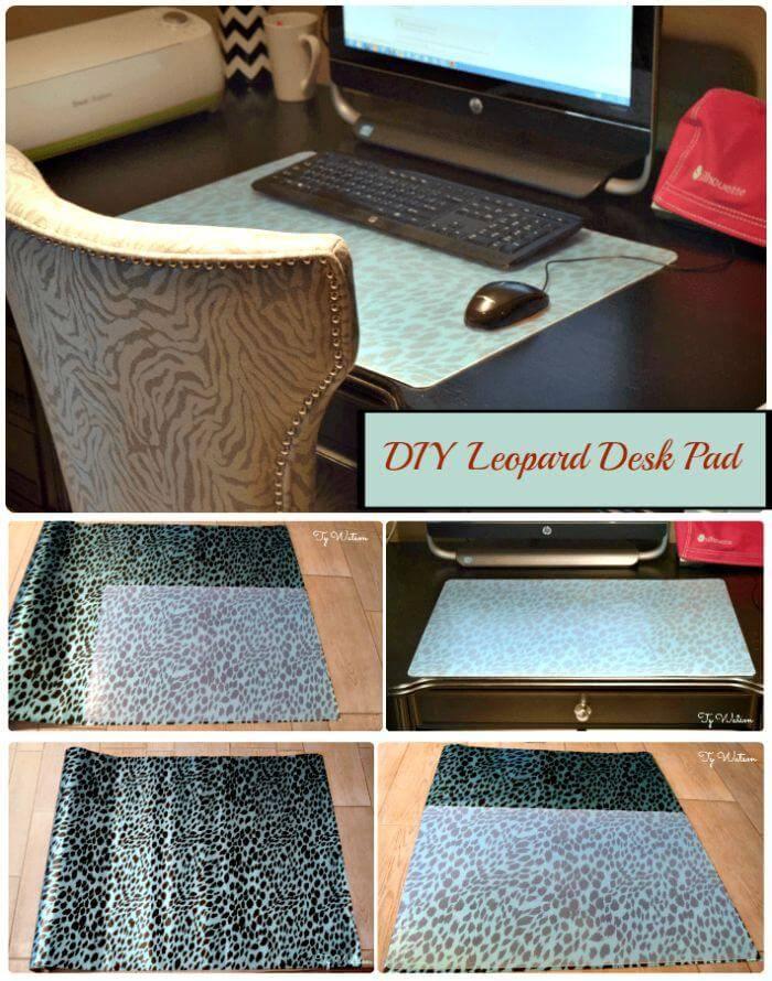 DIY Leopard Desk Pad