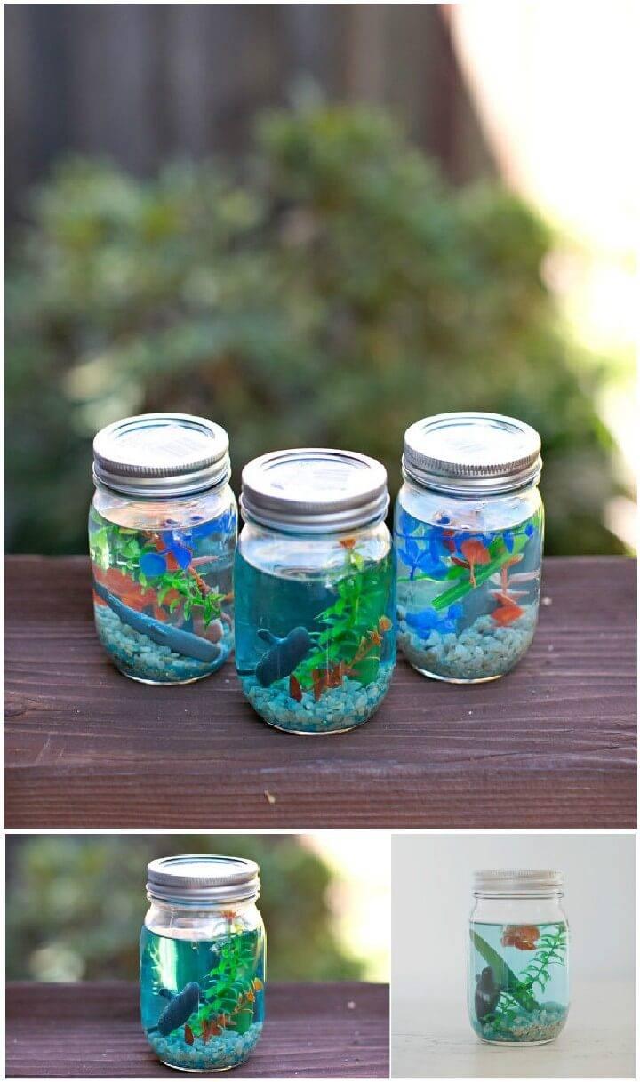 DIY Mason Jar Aquarium Gifts