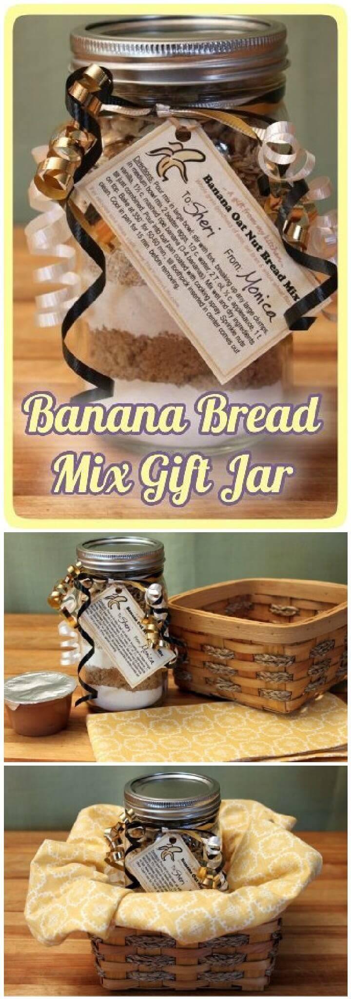 DIY Mason Jar Banana Bread Mix Gift