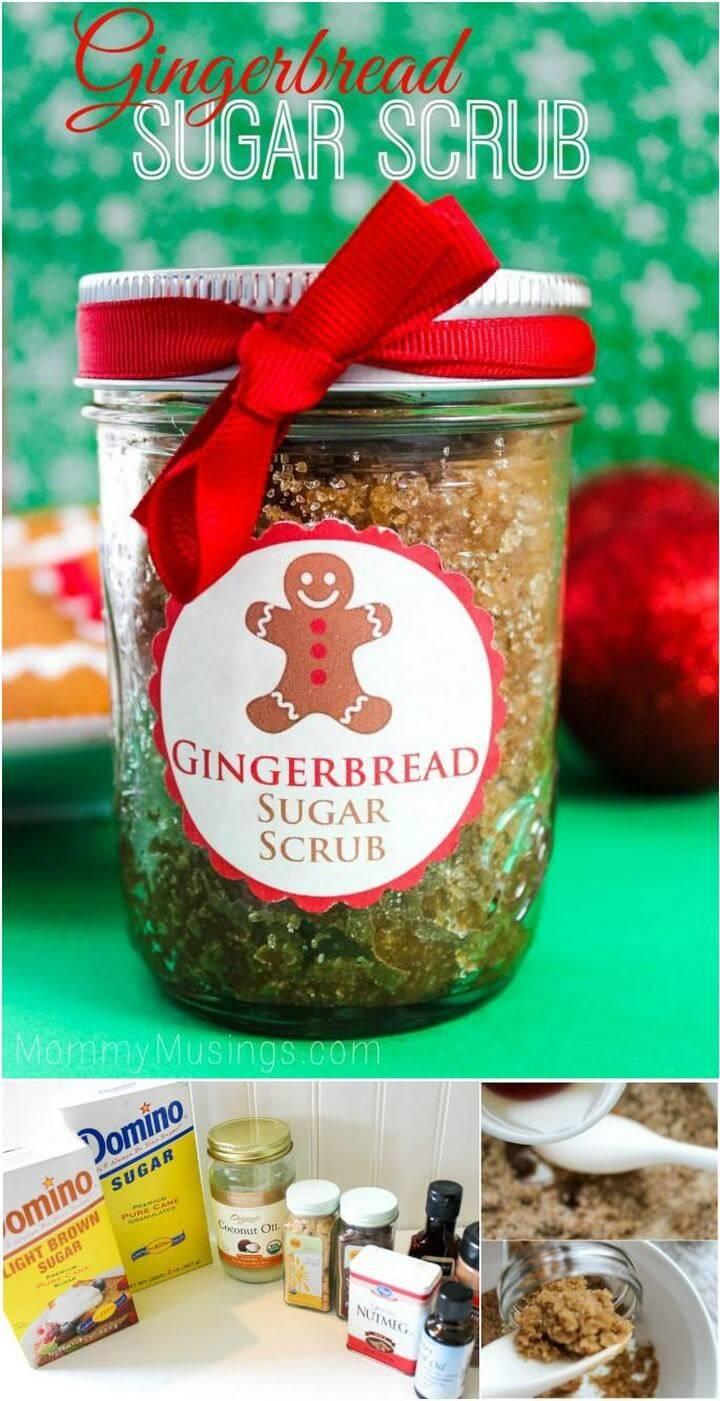 DIY Mason Jar Gingerbread Scrub Gift