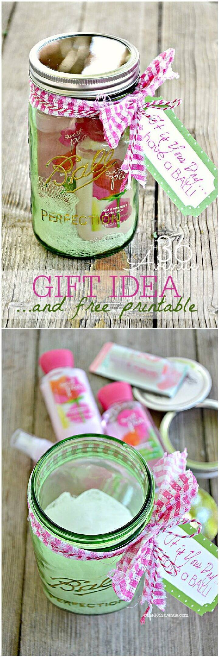 DIY Mason Jar Girls Gift Idea with Free Printable