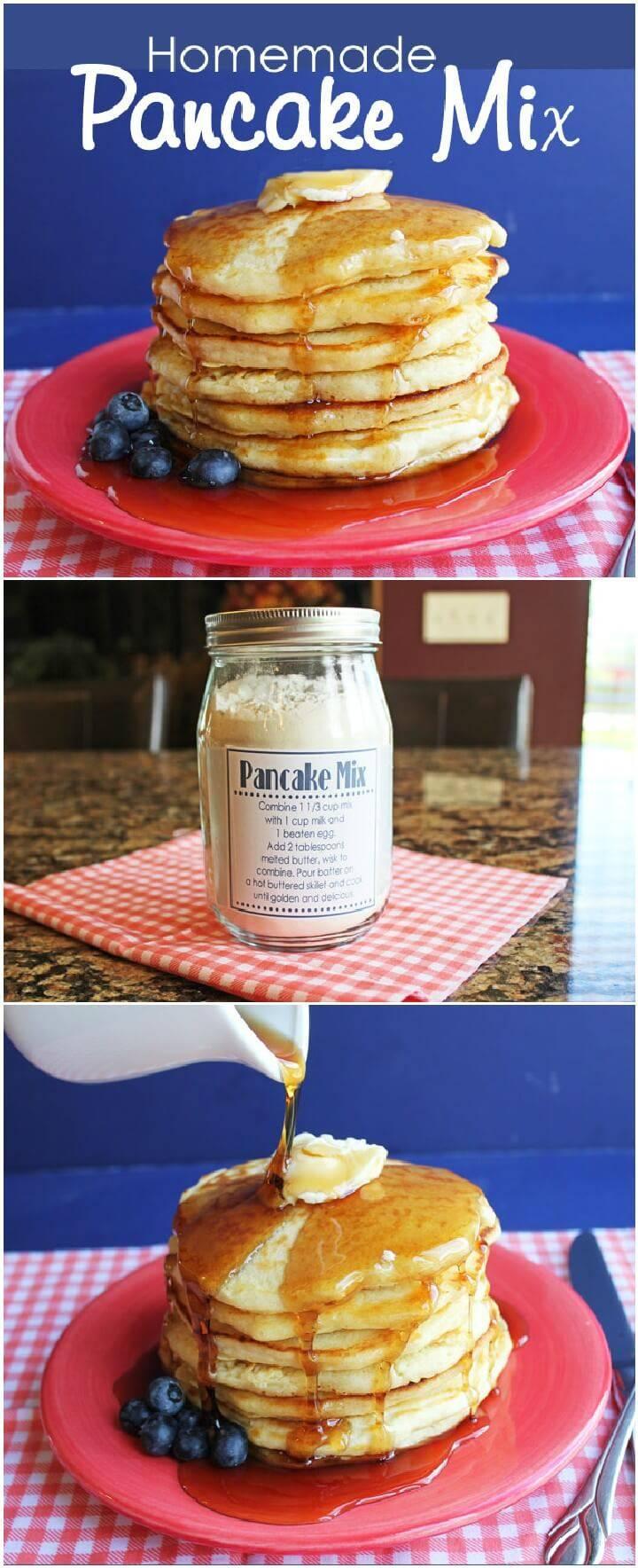 DIY Mason Jar Pancake Mix Gift