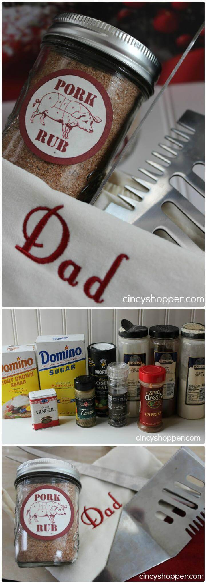 DIY Mason Jar Pork Rub Gift for Dad