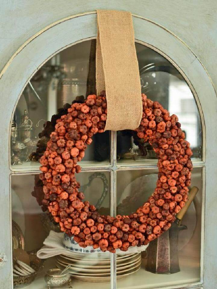 DIY Mini Pumpkin Easy Fall Wreath Tutorial