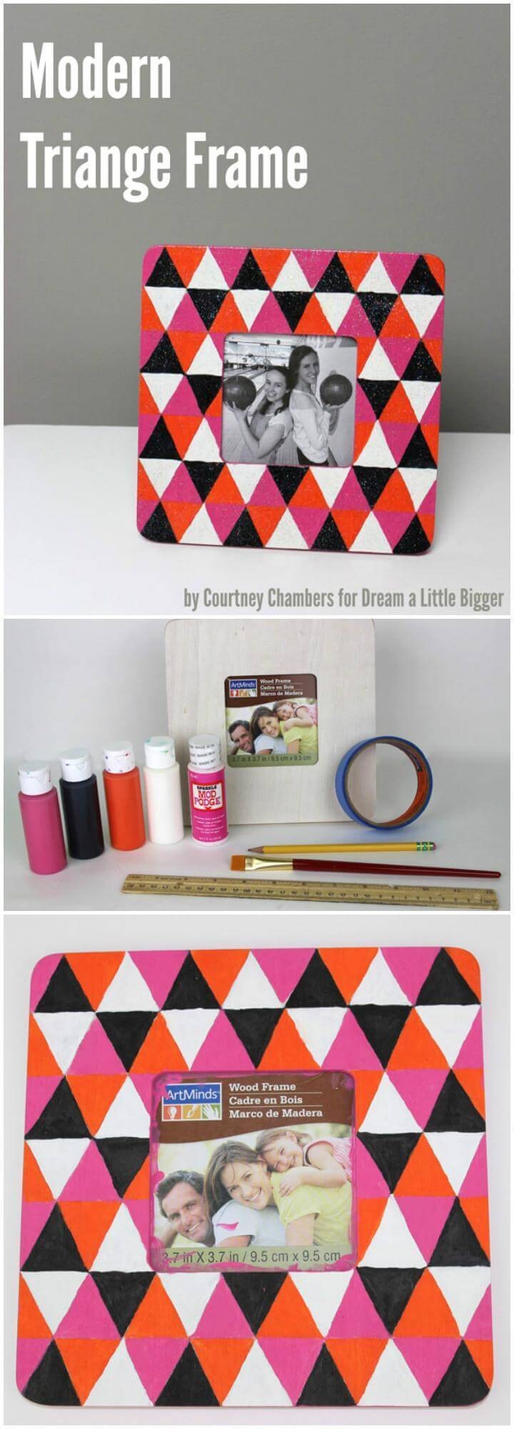 DIY Modern Triangle Photo Frame