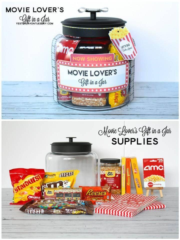 DIY Movie Lover's Mason Jar Gift