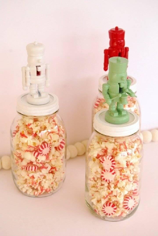DIY Nutcracker Mason Jar Gift Toppers