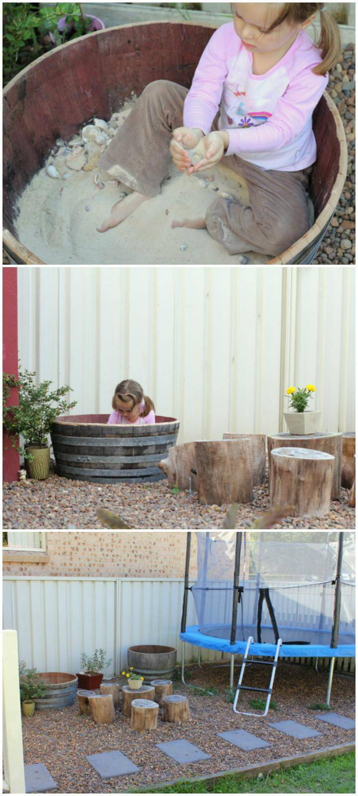 DIY Old Barrel Sandbox