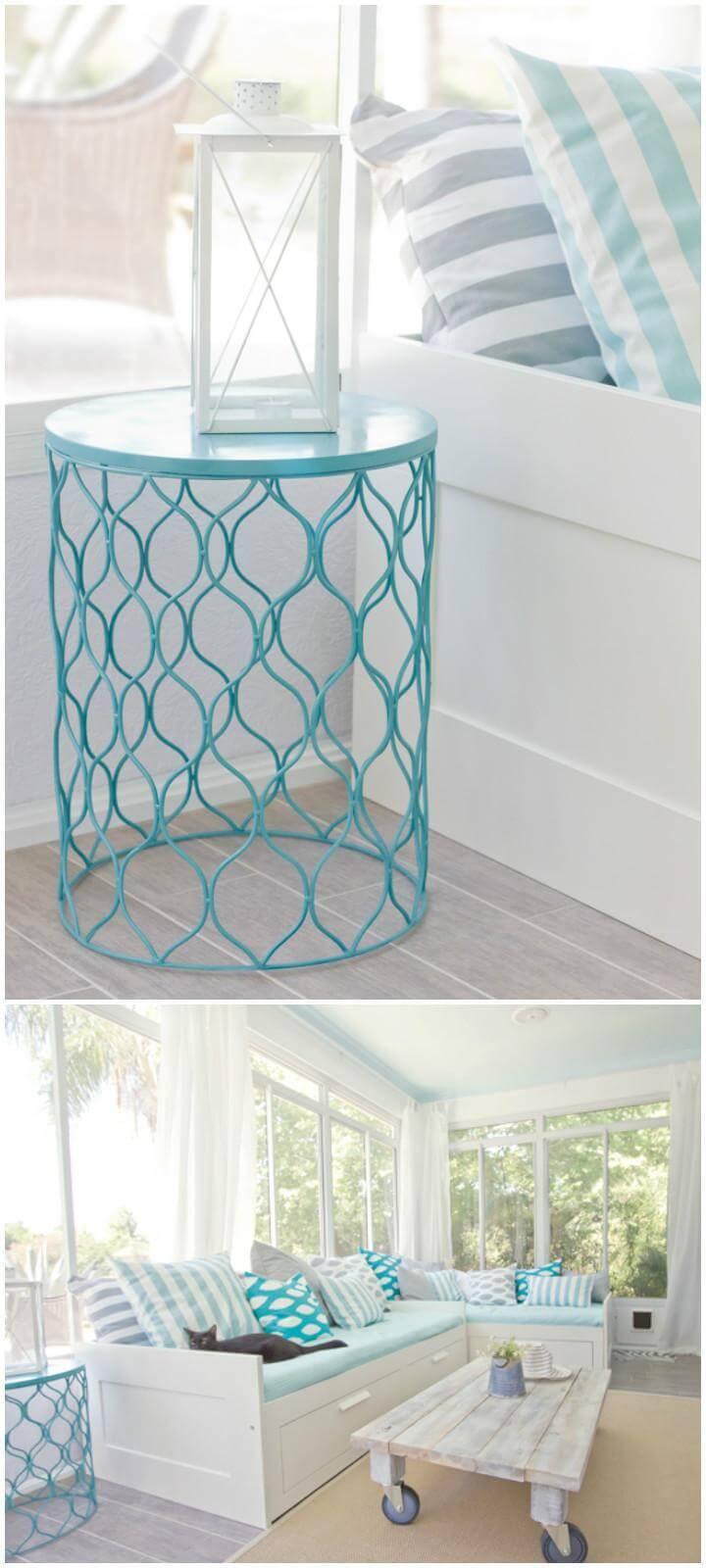 DIY Old Bin Side Table