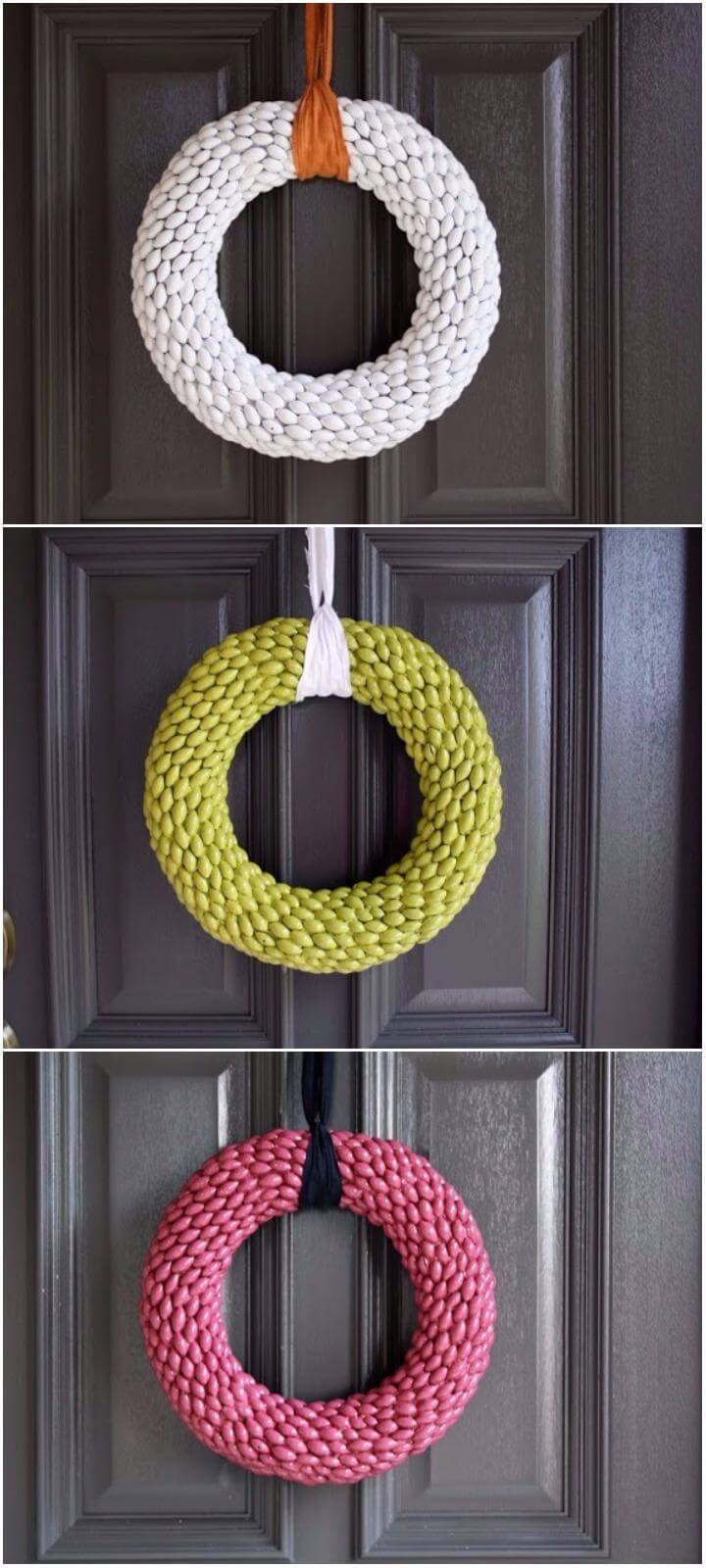 DIY Painted Acorn Fall Wreaths