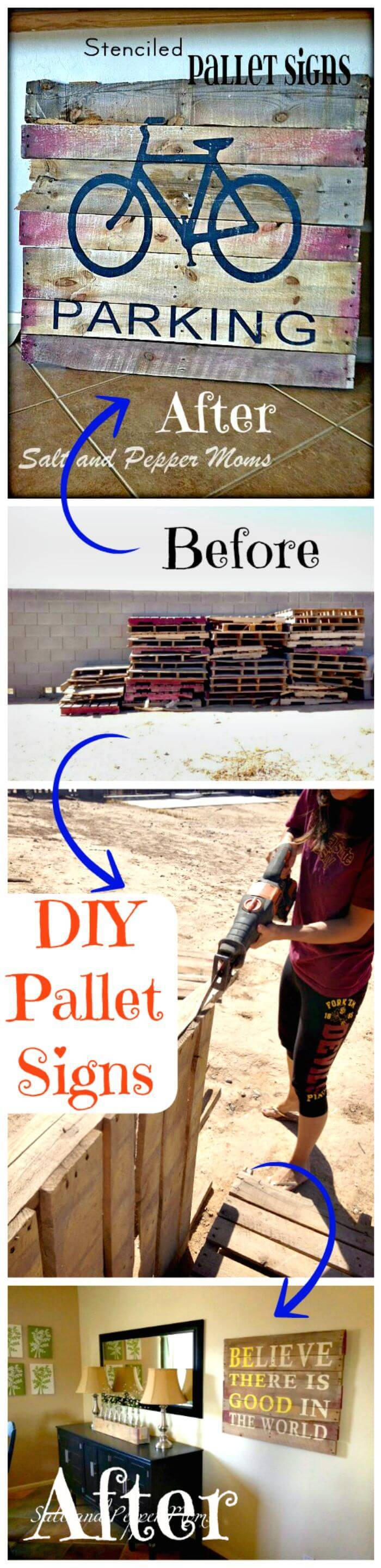 DIY Pallet Signs