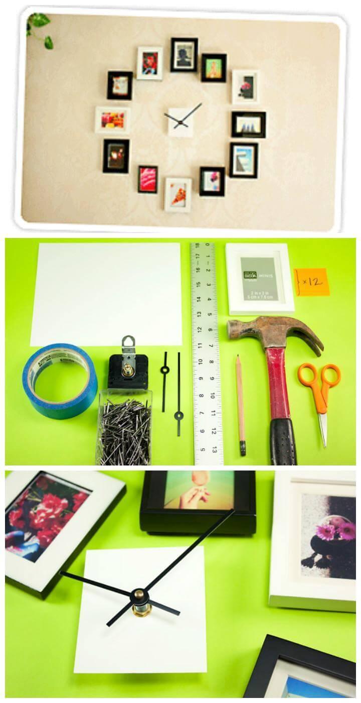 DIY Photo Wall Clock