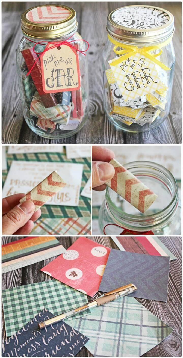DIY Pick Me Up Jars + Printable List of 50 Positive Quotes and Scriptures