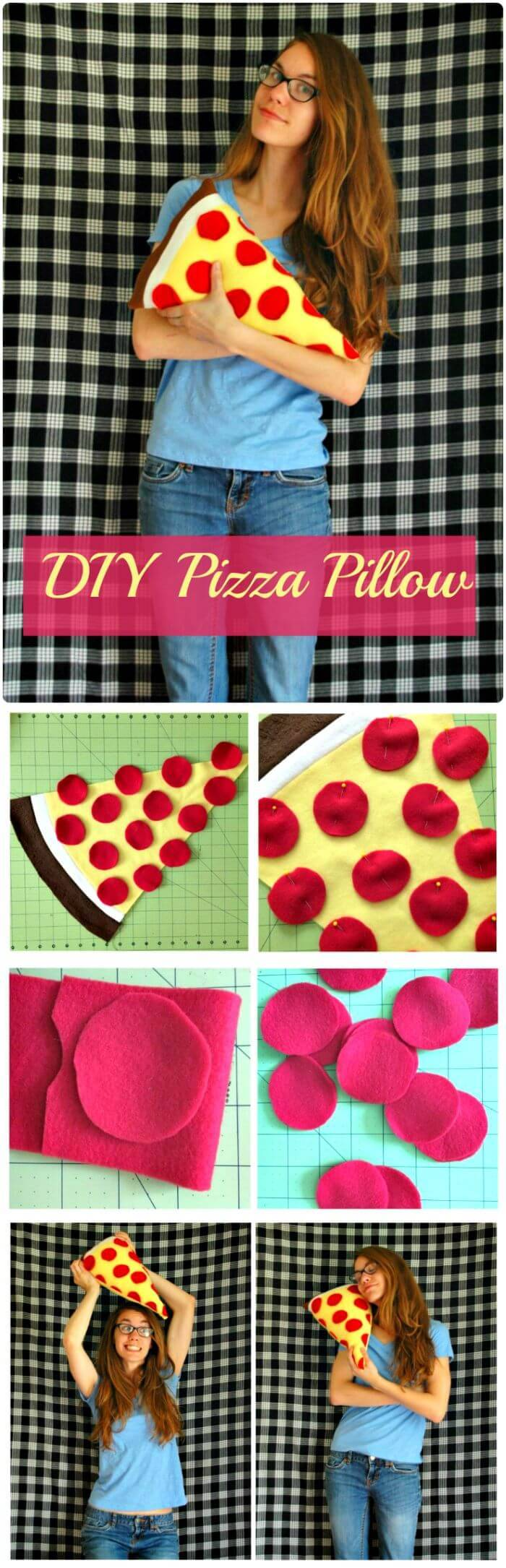 DIY Pizza Pillow