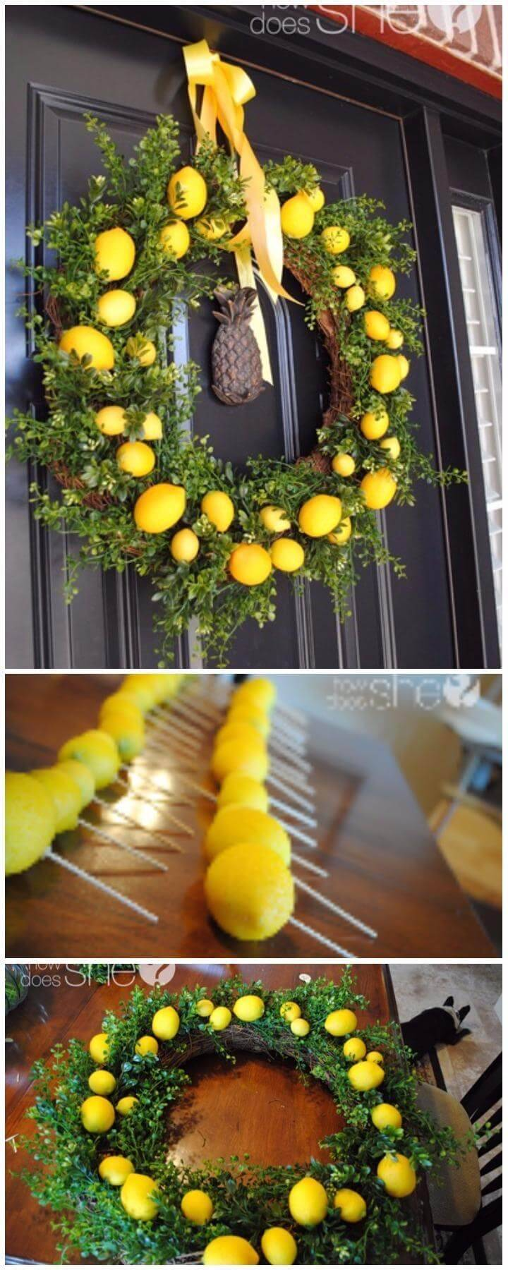 DIY Precious Lemon Wreath