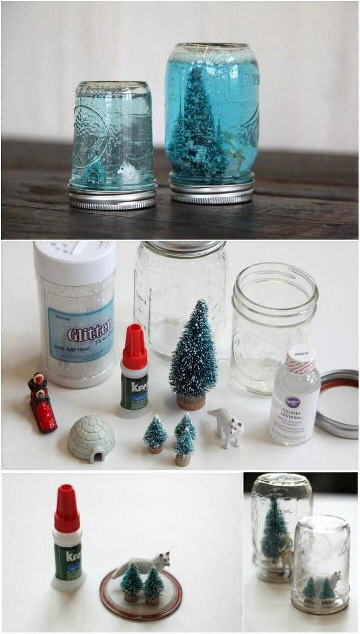 DIY Precious Mason Jar Snow Globe Gifts