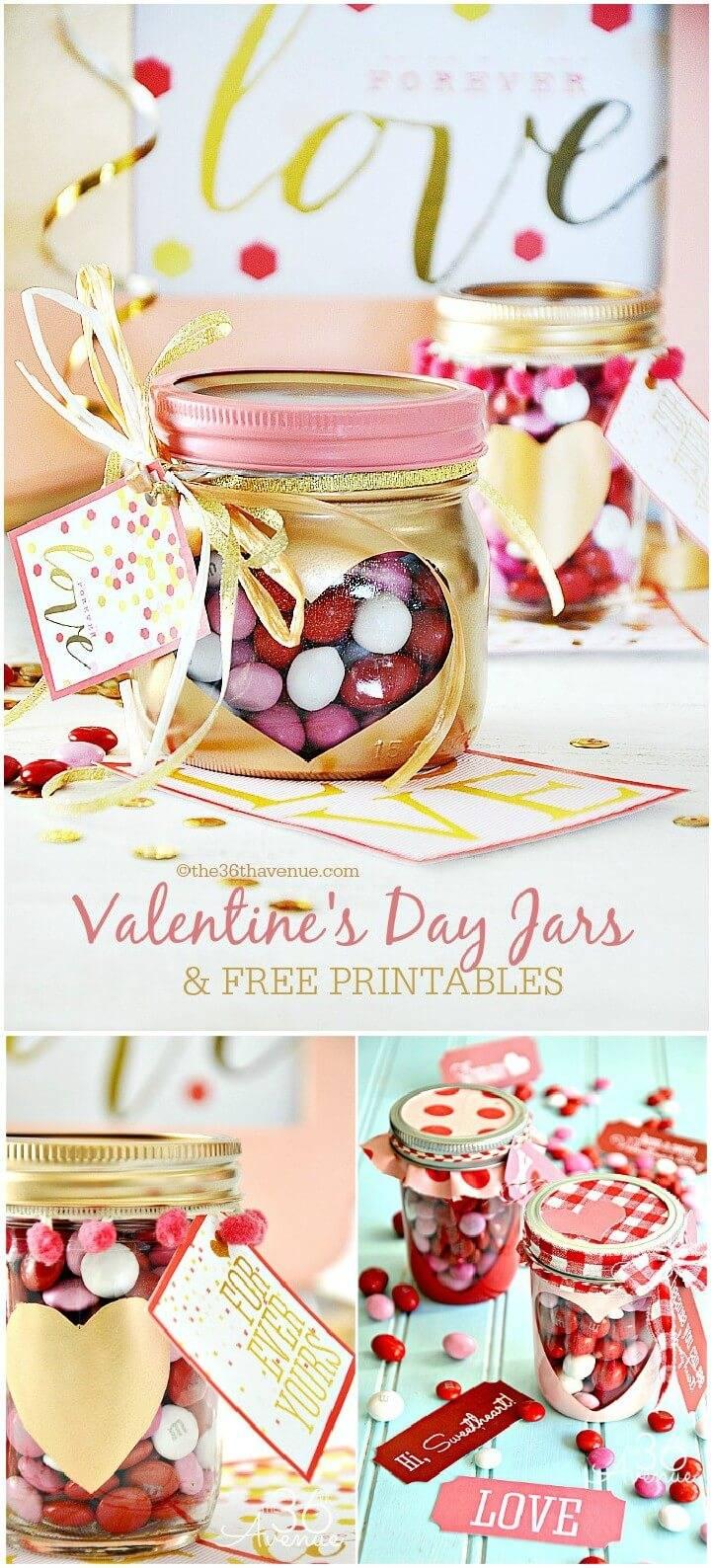 DIY Precious Valentine's Day Mason Jar Gifts