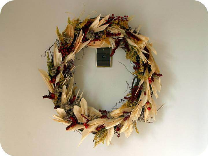DIY Pretty Beautiful Natural Fall Wreath
