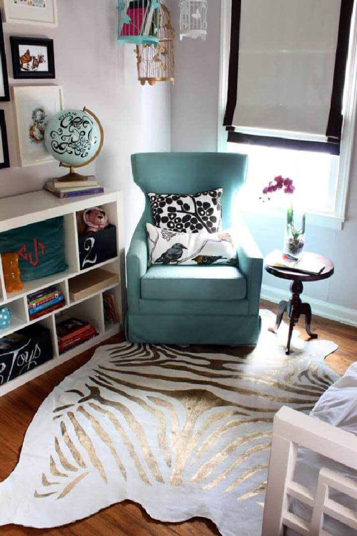 DIY Revisited Beautiful Zebra Rug