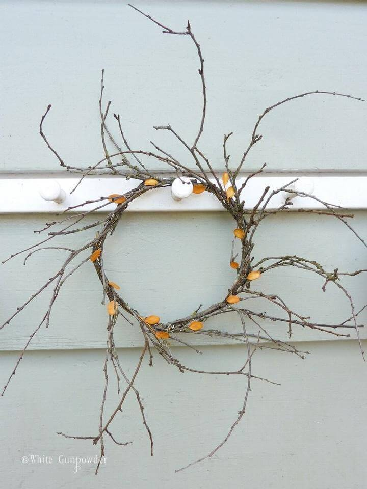 DIY Rustic Handmade Fall Wreath
