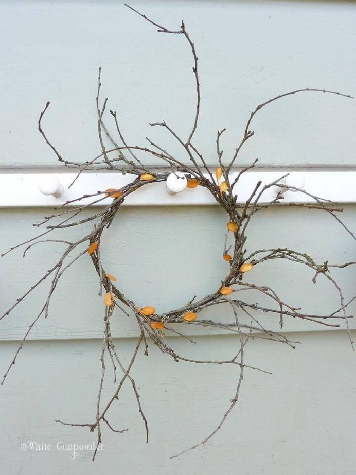 DIY Rustic Handmade Fall Wreath