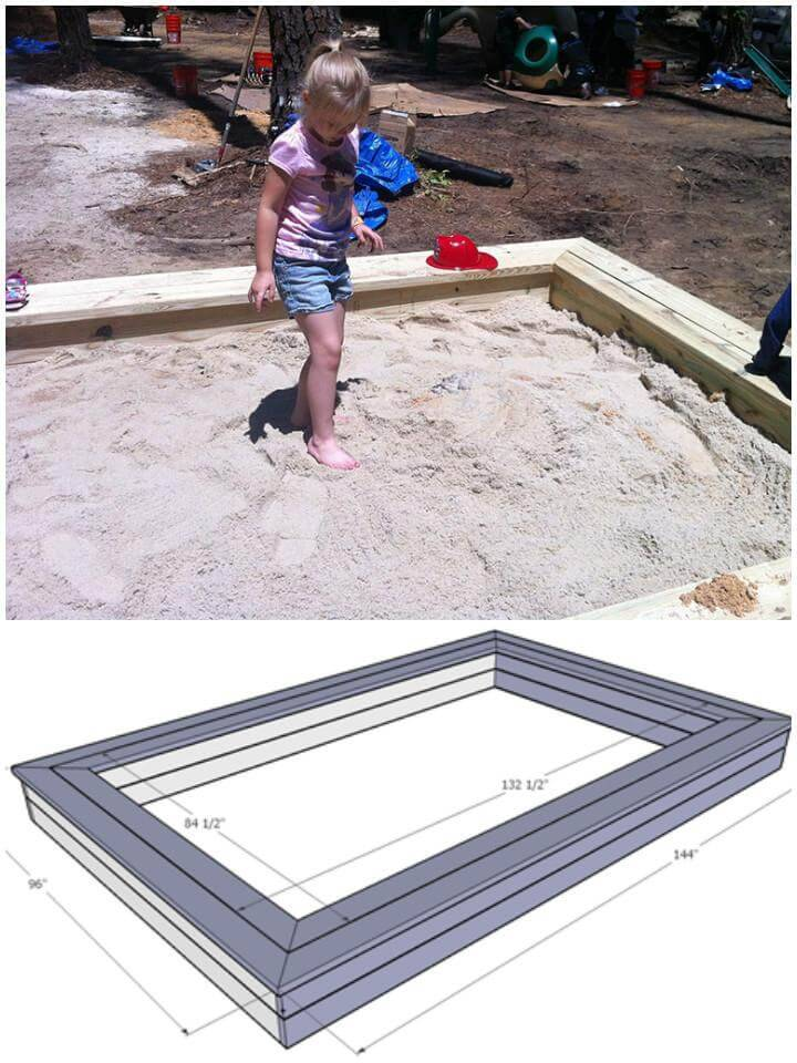 DIY Sandbox Free Plans and Tutorial