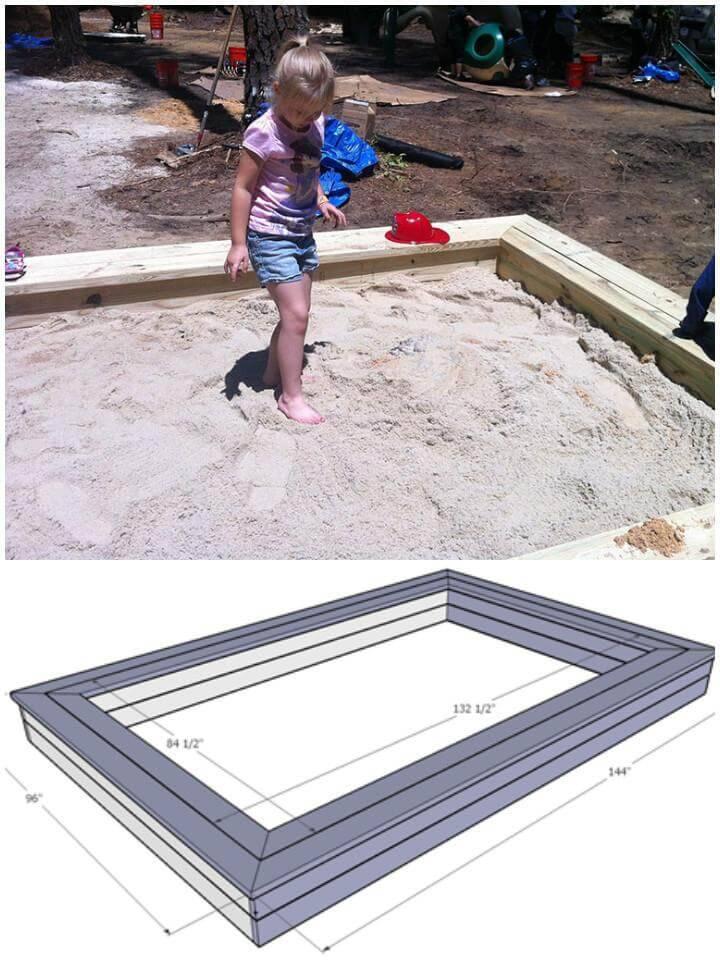 DIY Sandbox Free Plans and Tutorial
