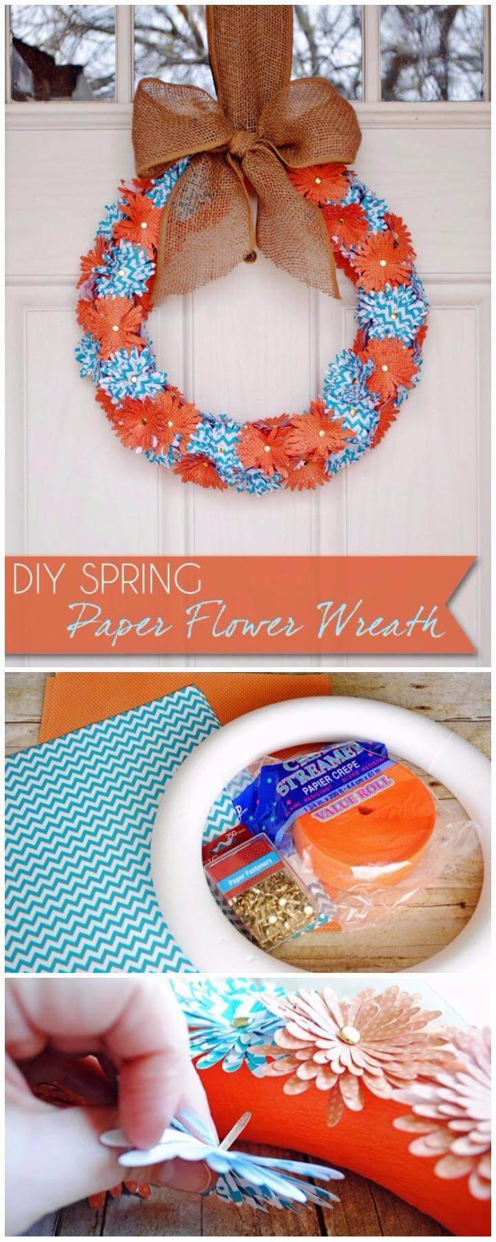 DIY Self-Made Paper Flower Wreath