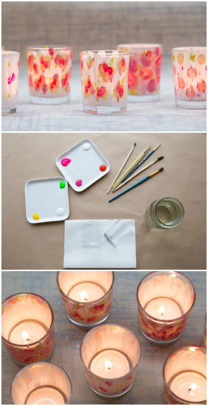 DIY Self-Painted Votive