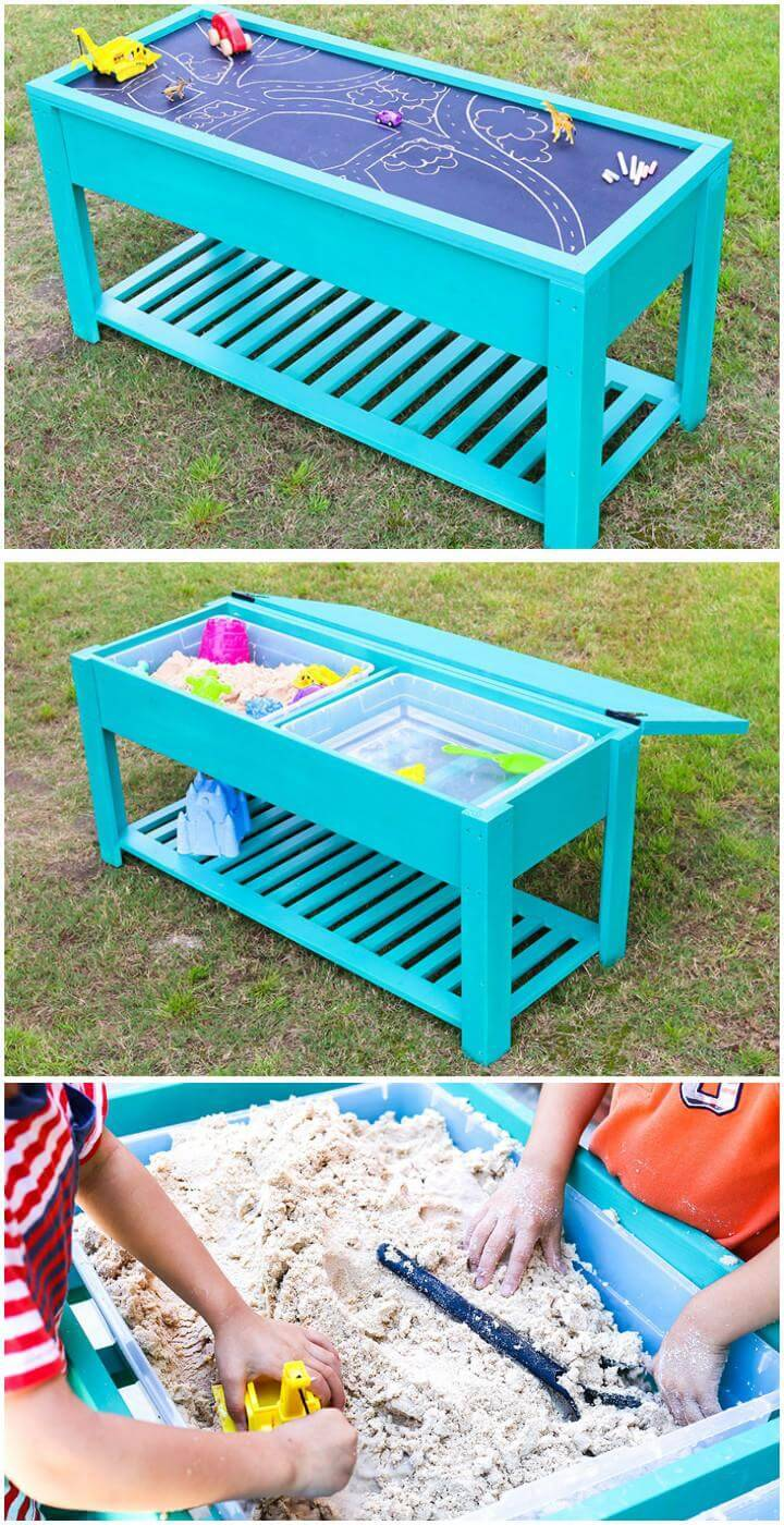 DIY Smartly Built Kids Water and Sand Table