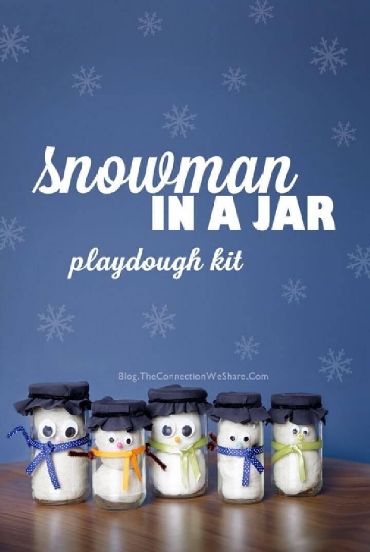 DIY Snowman in Mason Jar Gifts
