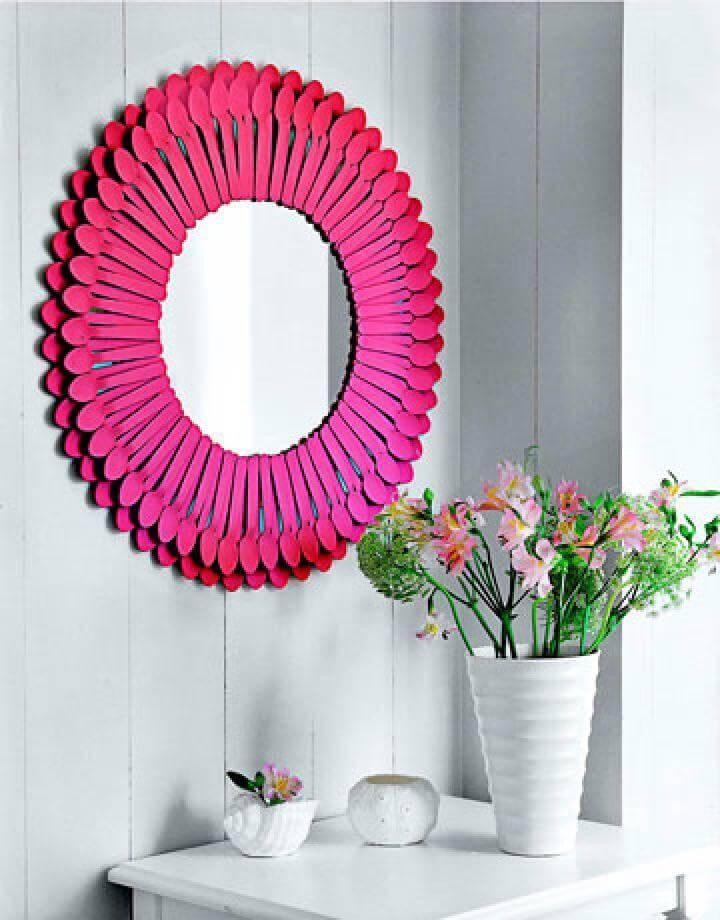DIY Spoon Colorful Mirror