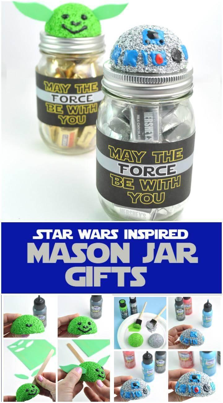 DIY Star Wars Inspired Mason Jar Gifts