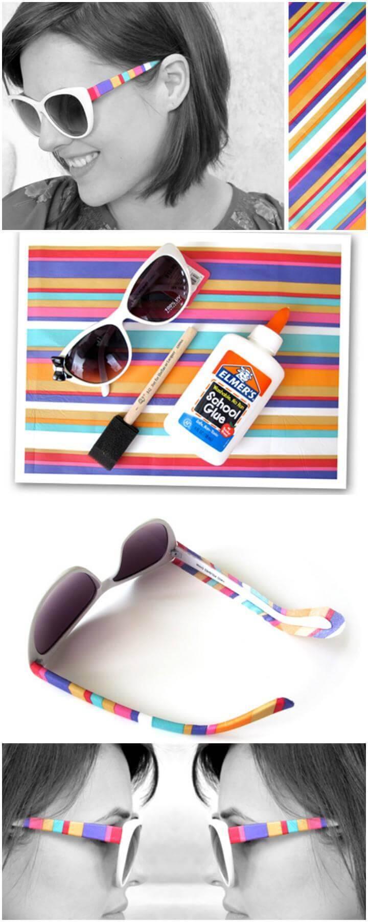 DIY Striped Summer Sunglasses