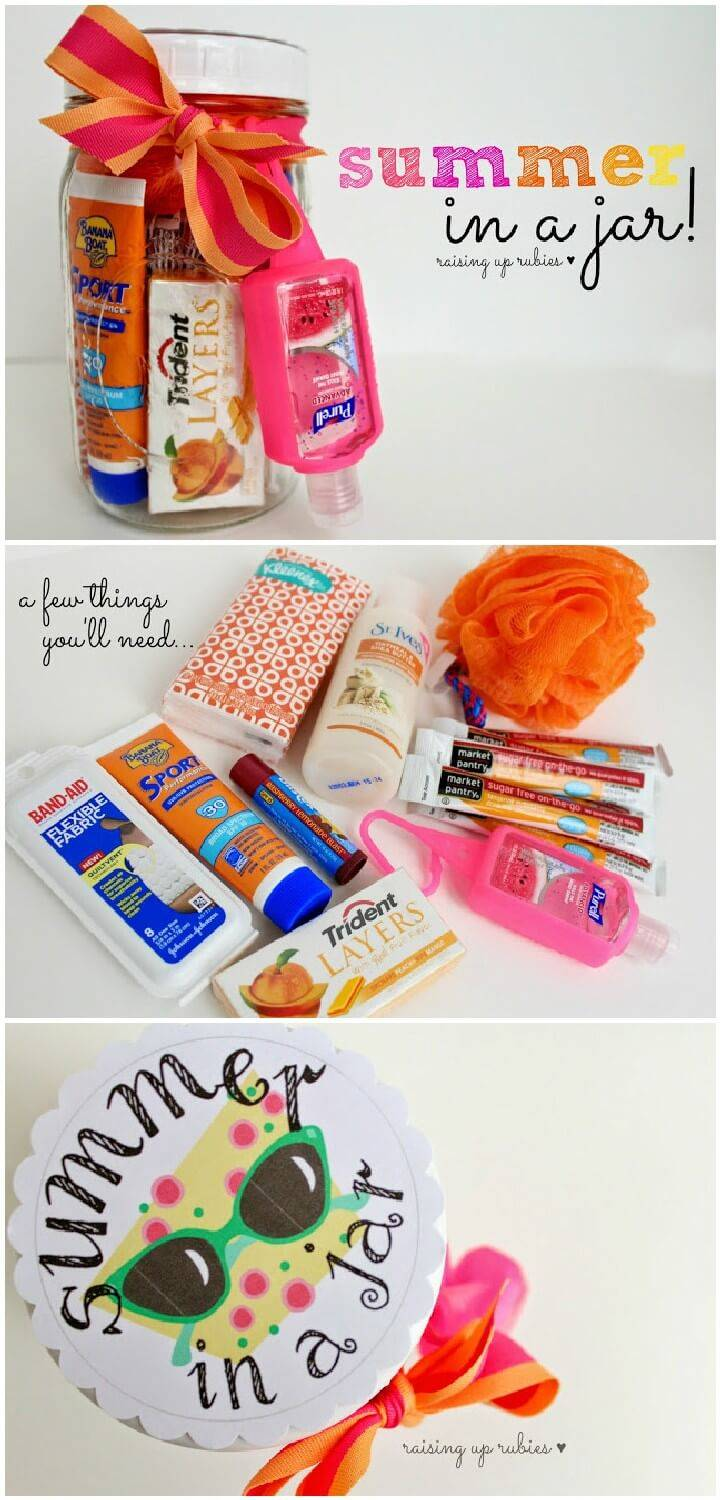 DIY Summer in a Mason Jar Gift