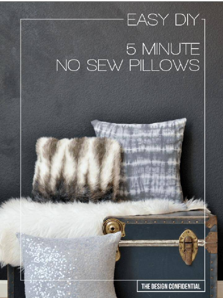DIY Super Easy 5 Minute No-Sew Pillows