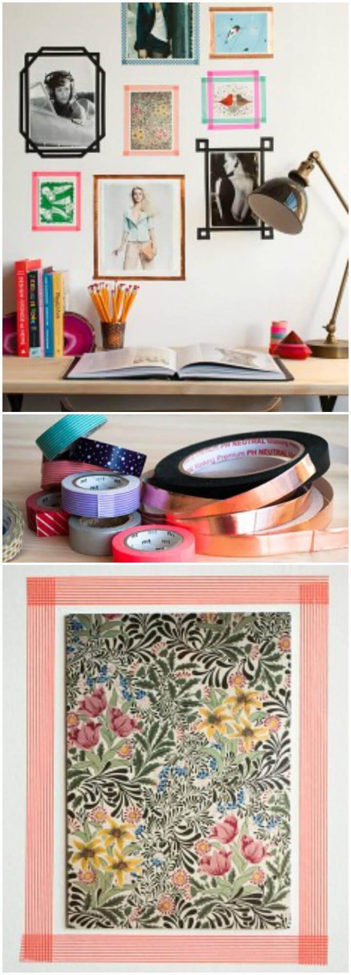 DIY Tape Wall Photo Frames