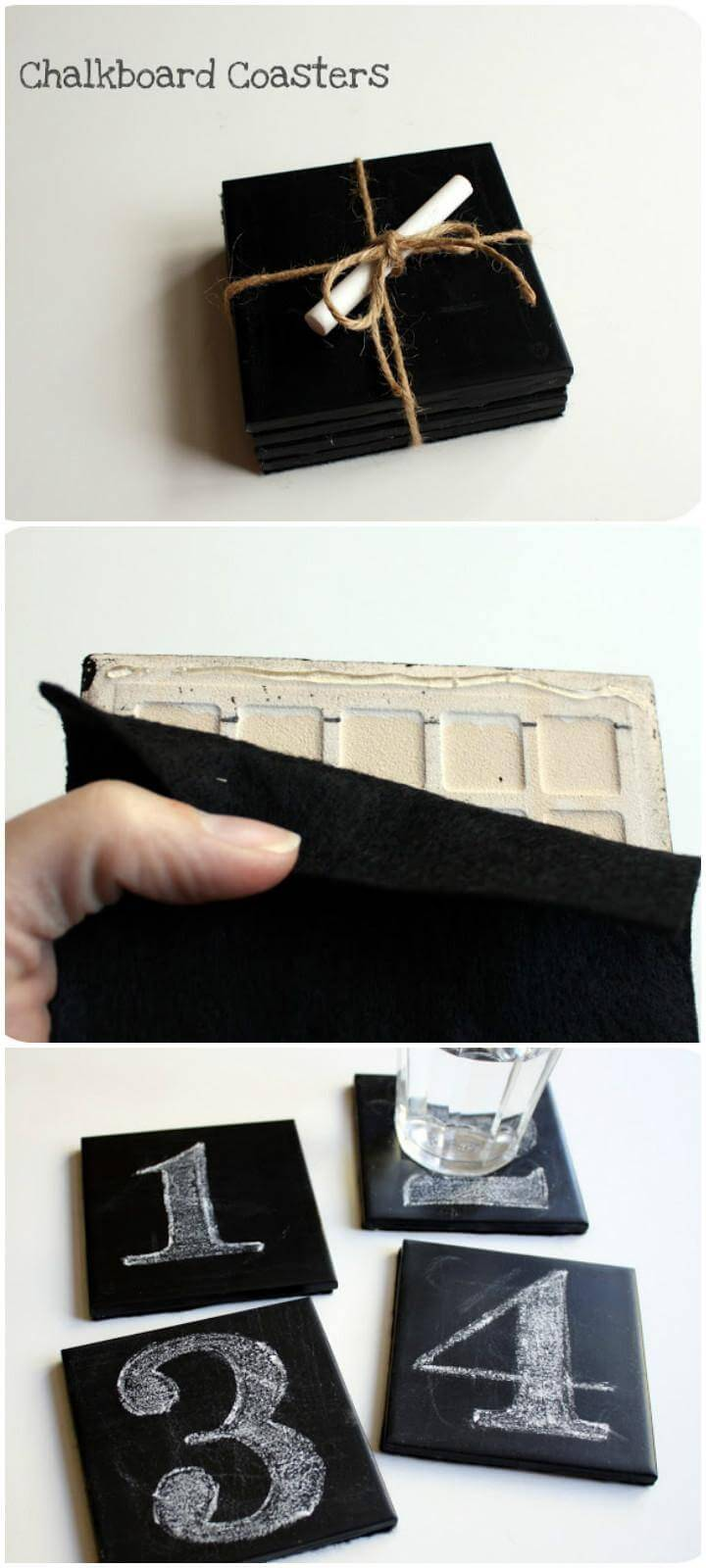 DIY Timeless Chalkboard Coasters
