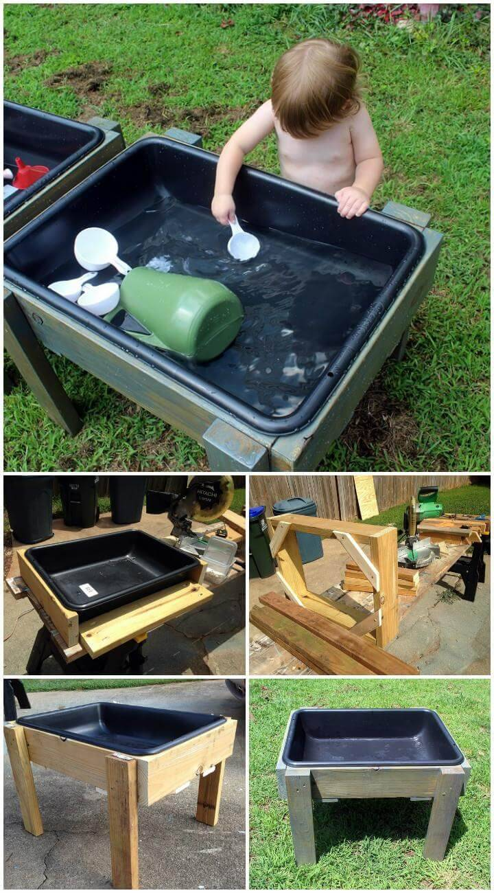 DIY Toddler Water and Stand Table