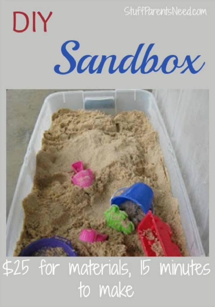 DIY Under Bed Storage Bin into Kids Sandbox